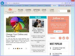 dailyworth homepage