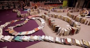 Seattle Public Library book domino